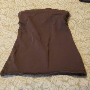 Victorias secret brown strapless bra top